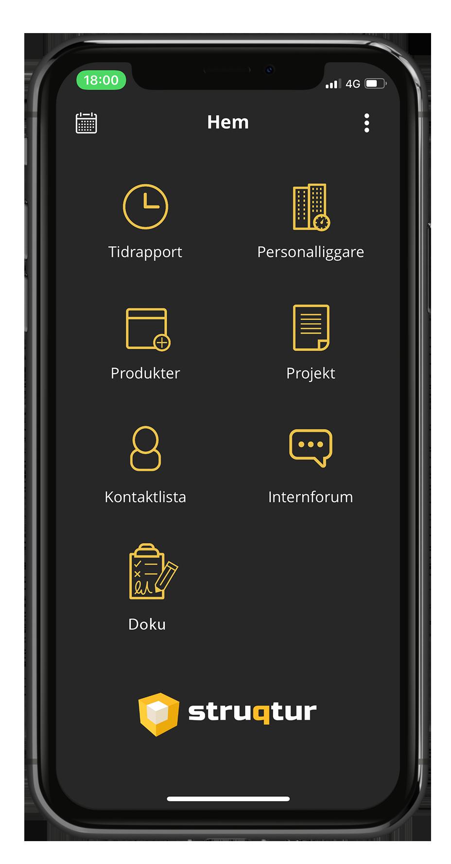 Struqturs byggbransch app