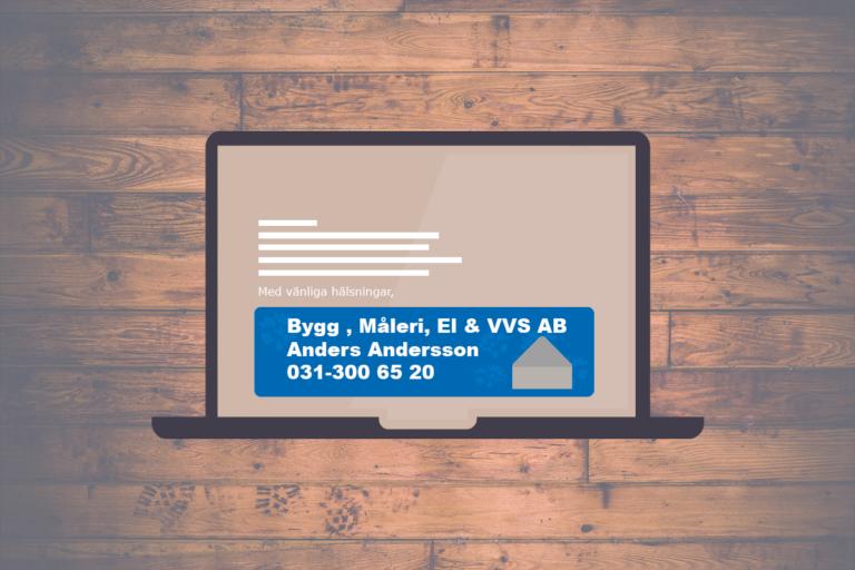Mailsignatur för byggföretag