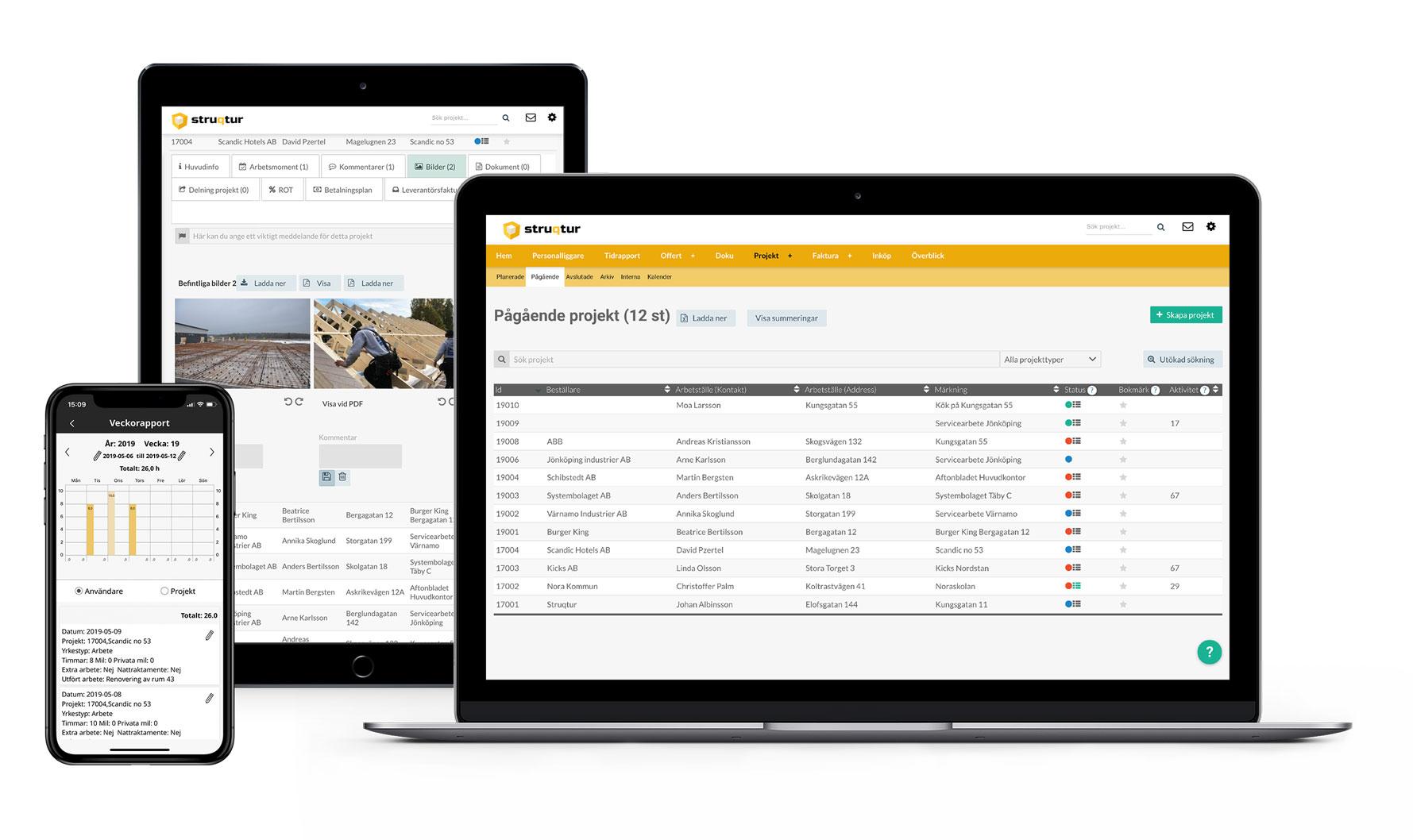 Webb- och appbaserat projektverktyg för byggbranschen