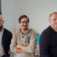 Nya i Struqturteamet: David, Sergio och Tommy
