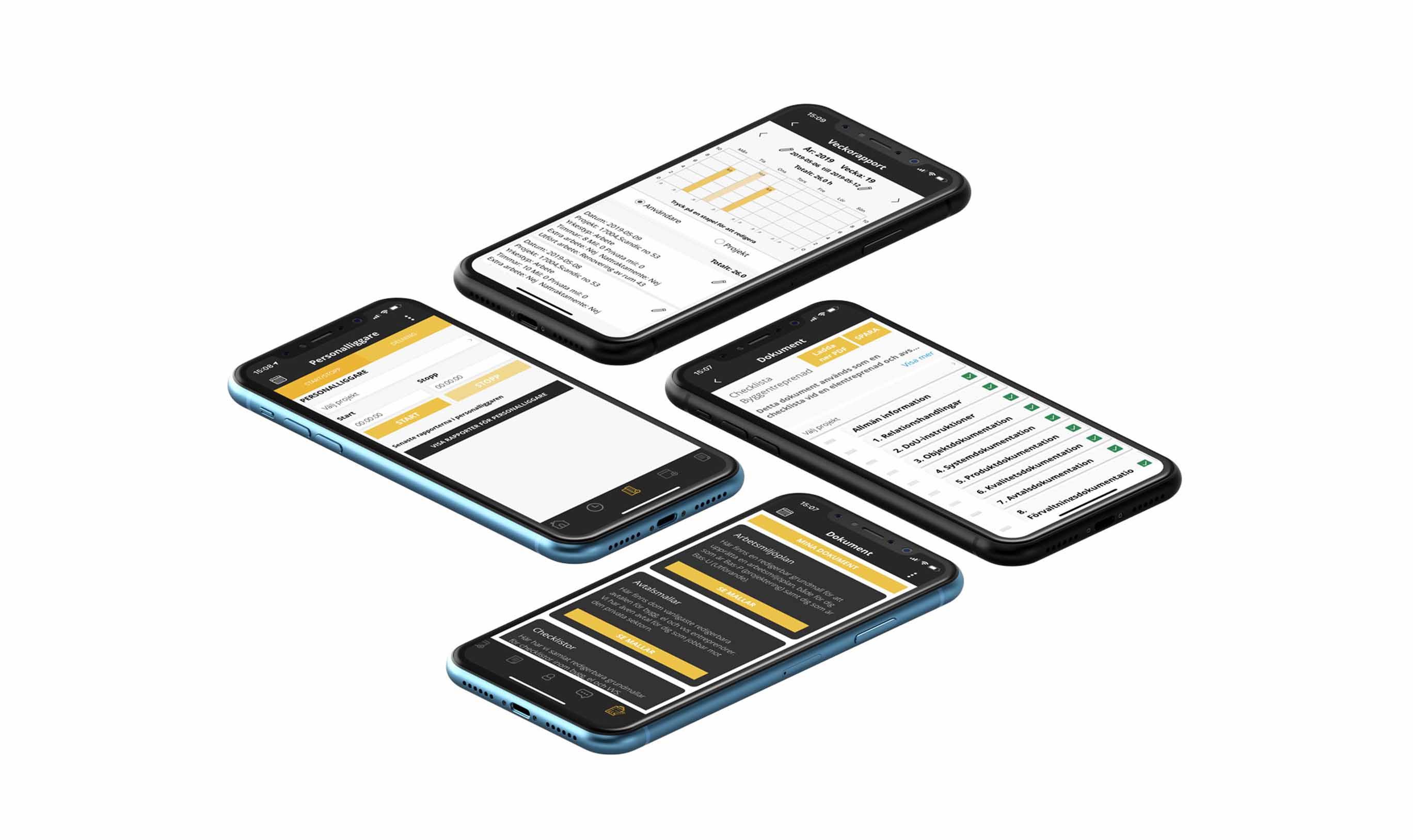 Struqturs tidrapportering mobilapp
