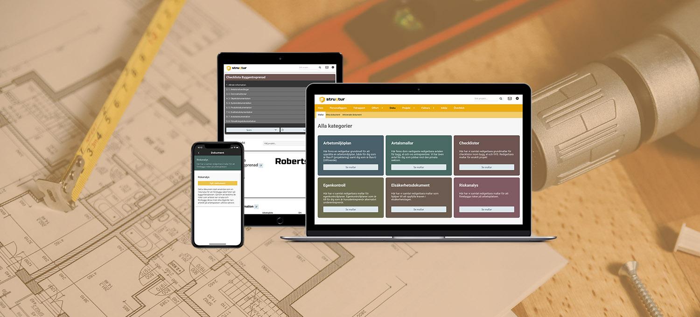 Hantverksdokument och mallar för byggbranschen hos Struqtur