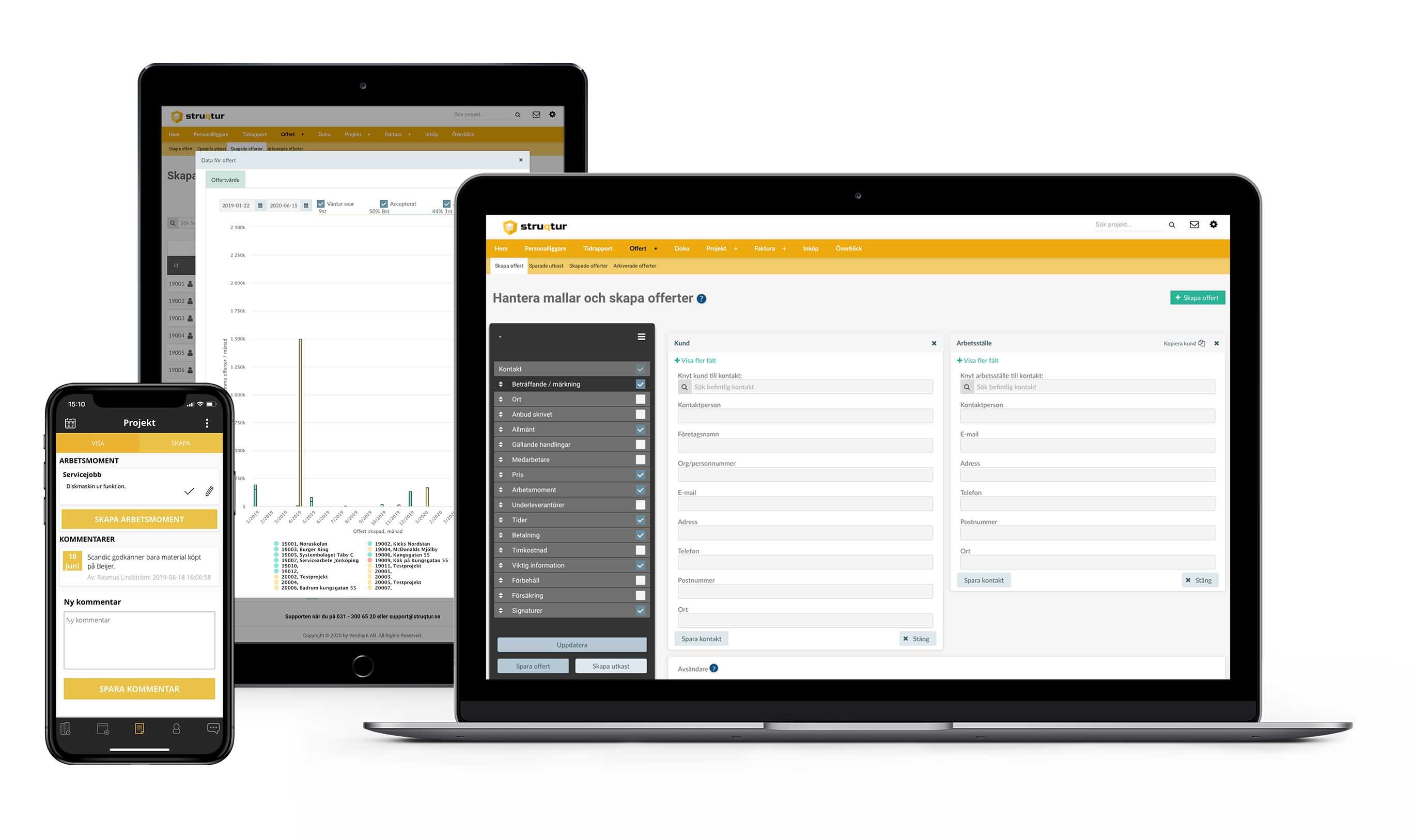Struqturs offertsystem i app och webb