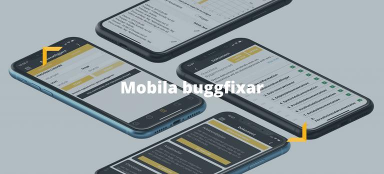 mobilbuggar, buggfixar, mobila buggfixar, buggfixar i mobilen