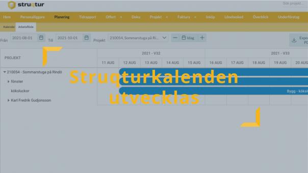 planeringsverktyget struqturkalendern uppdateras